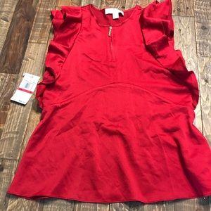 Red Michael Kors shirt